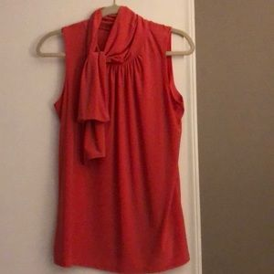 Sleeveless shell/blouse in soft coral, size large